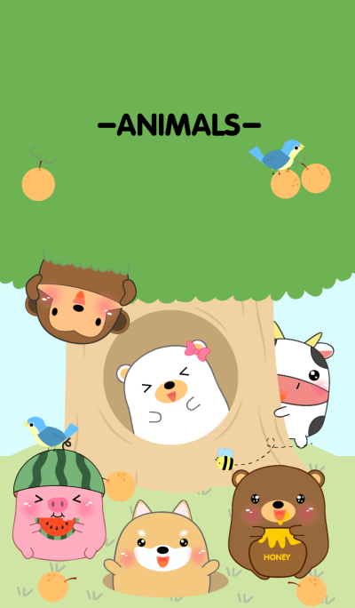 Home Animals On Tree theme V.2(jp)