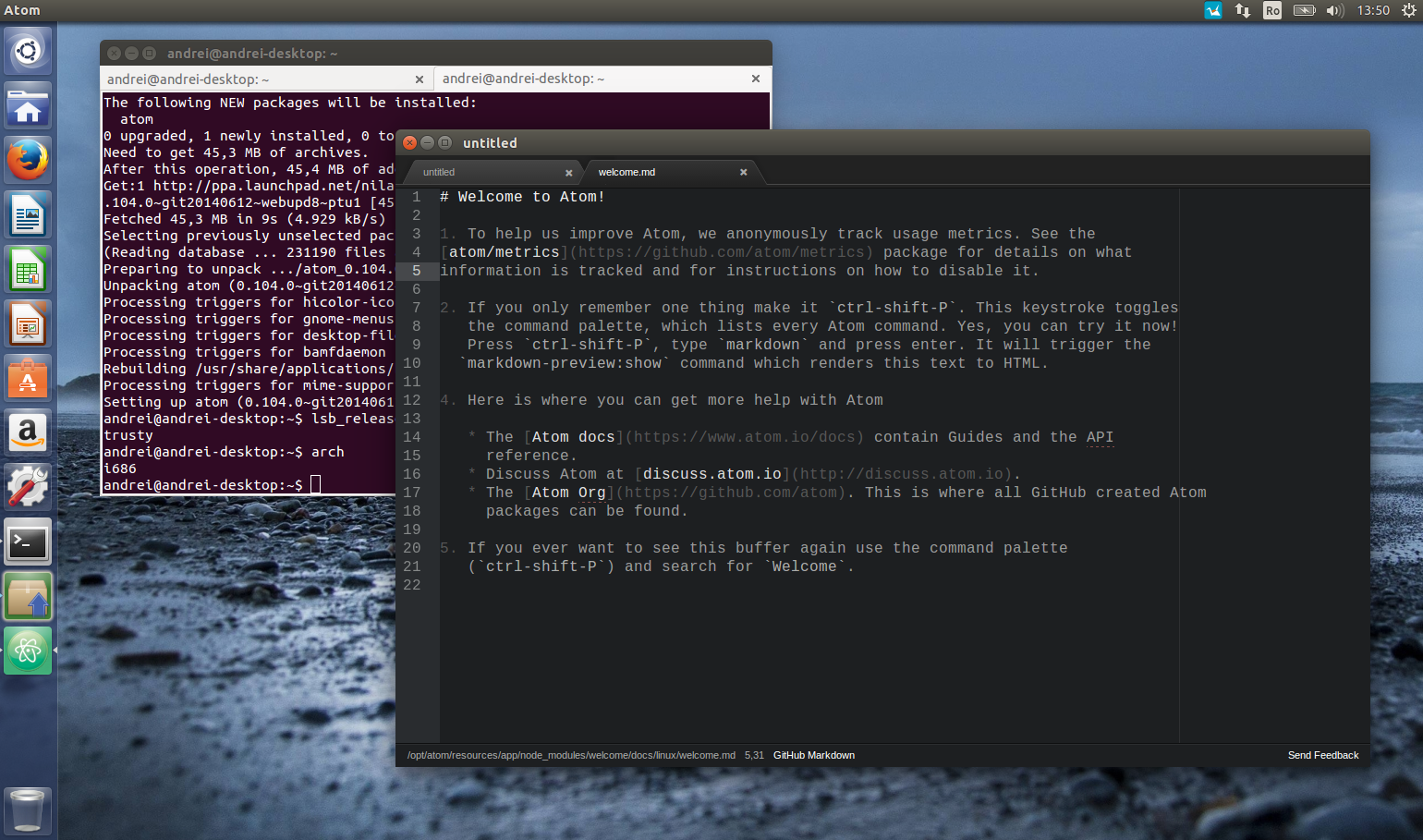 Atom Text Editor Available For Linux 32bit [Ubuntu PPA