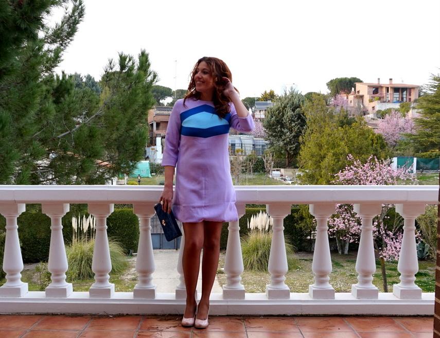 Vestido corto lila