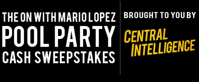 ON with Mario Lopez Pool Party Cash Sweepstakes ~ Sweepstaking net