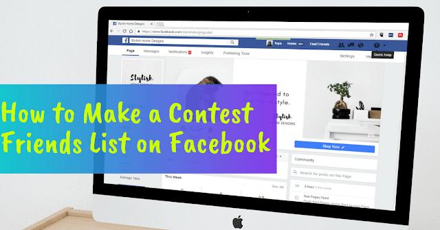 Facebook contest friends list