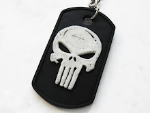 The Punisher Skull Polymer Clay Keychain