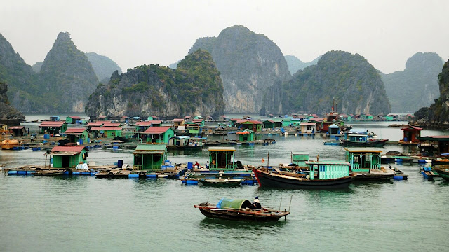 Floating villages are among the most special attractions of Halong Bay