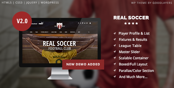 Real Soccer v2.30 - Sport Clubs Responsive WP Theme