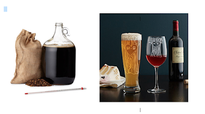 beer wine beer making glasses