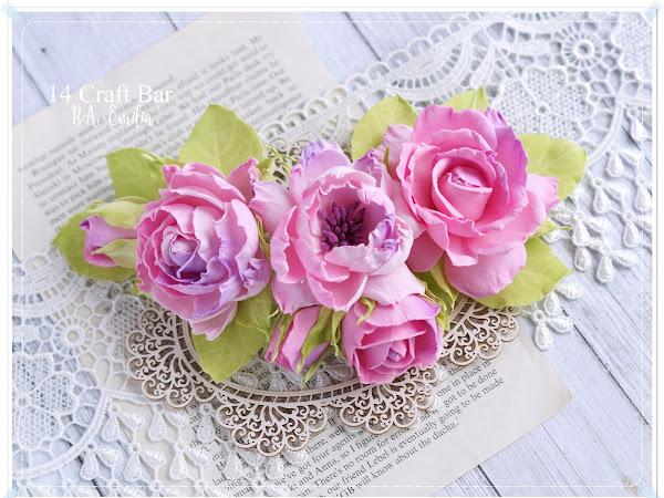 Silk Foam Flowers in Pink