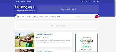 Novo Template responsivo Blogger