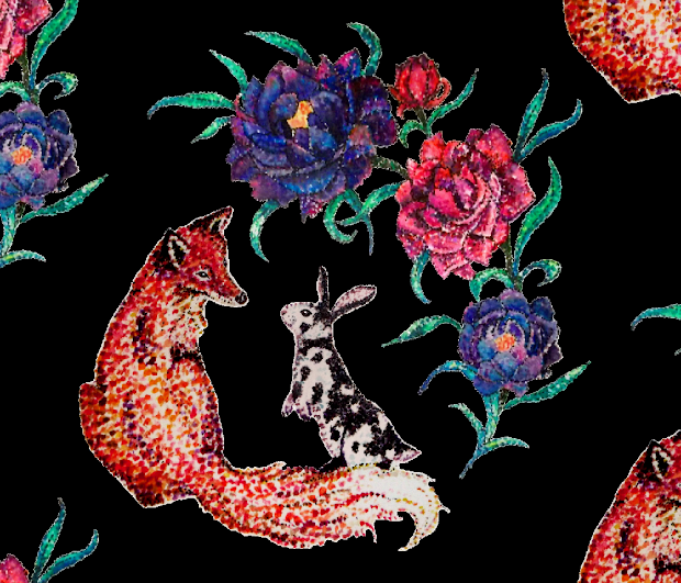 Contest Entry Fox & Rabbit Watercolor