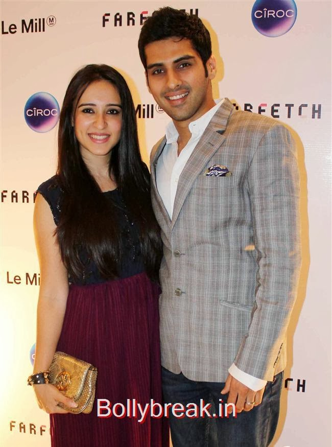 Sameer Dattani with his wife Ritika, Sonam, Jacqueline attend Farfetch Superstore Le Mill Launch