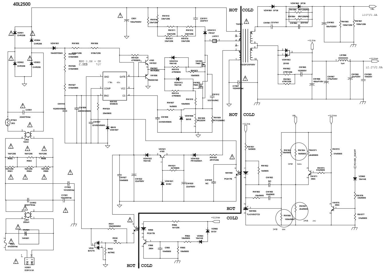 Electrotechnician  Toshiba 40l2500  Toshiba 43l2500  U2013 Smps