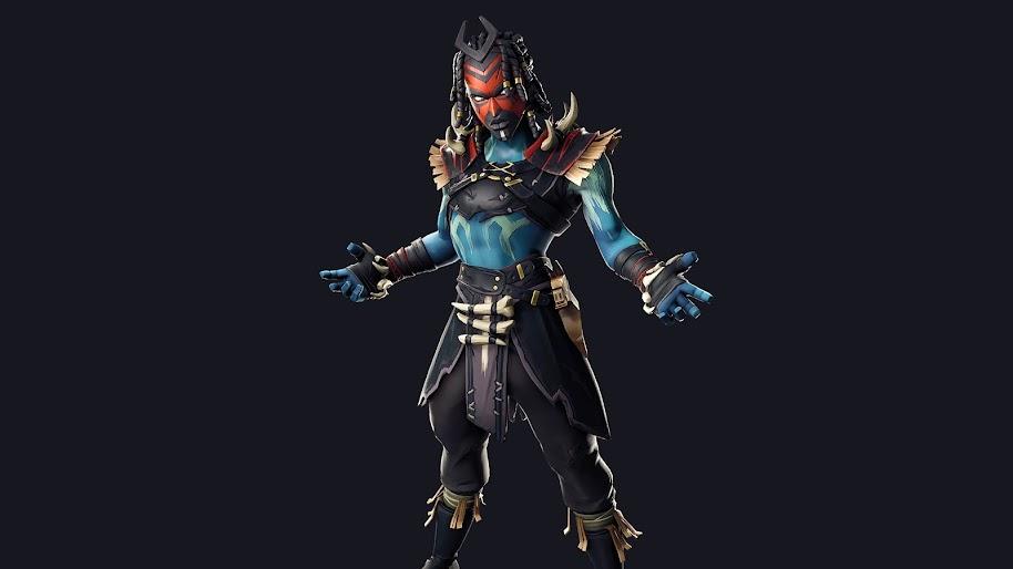 fortnite shaman outfit skin 4k 157 - fortnite nokia 71
