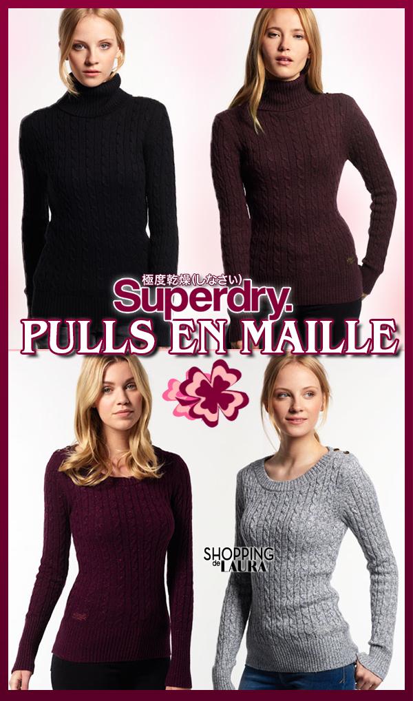 Pull en maille femme Superdry