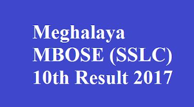 Meghalaya SSLC 10th Result 2017