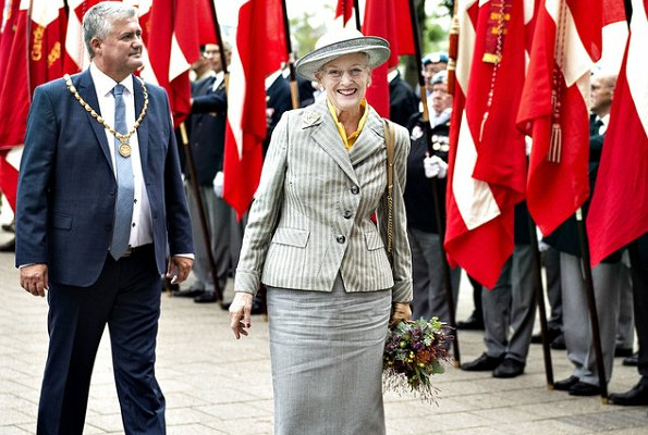 Queen Margrethe of Denmark arrived in Silkeborg aboard the Royal Yacht Dannebrog. Queen visited DESIGNA kitchen company