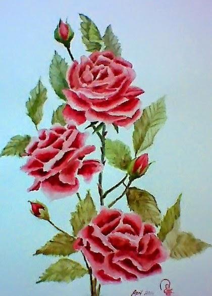 Gambar Lukisan Bunga Menggunakan Cat Air Brad Erva Doce Info