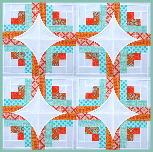 Curve it Up Log Cabin Quilt Free Tutorial