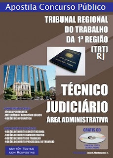 Apostila do Concurso TRTRJ Técnico judiciário - área administrativa