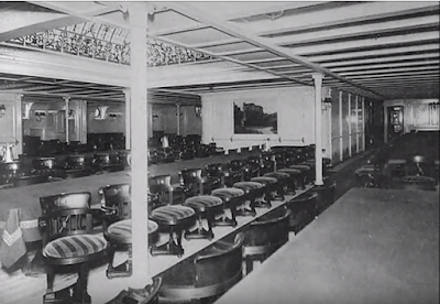 interior of SS Kroonland Red Star Line