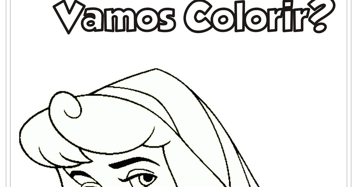 Desenho A Bela Adormecida Para Colorir