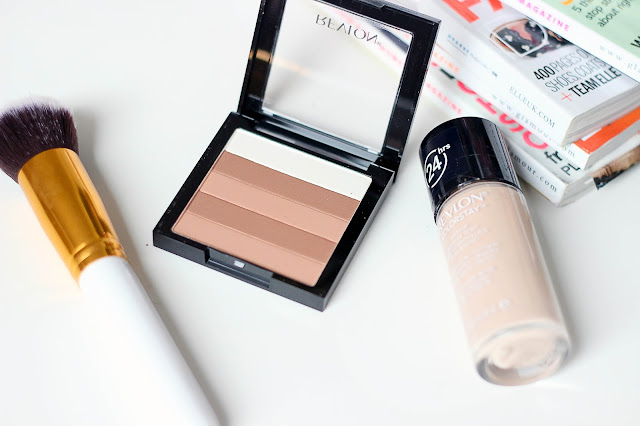 Revlon ColorStay foundation and Highlighting matte palette natural beige