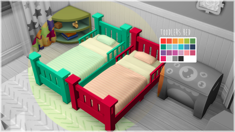 My Sims 4 Blog Toddler Bed Recolors By FlamingBlaze