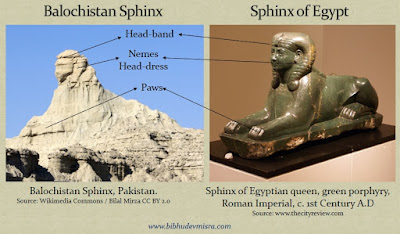 The Balochistan Sphinx has a sriking resemblance to the Egyptian sphinx in many respects.