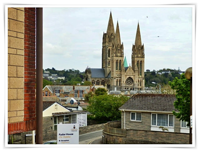 Looking back from Truro Courts towards the Cathedral, Cornwall