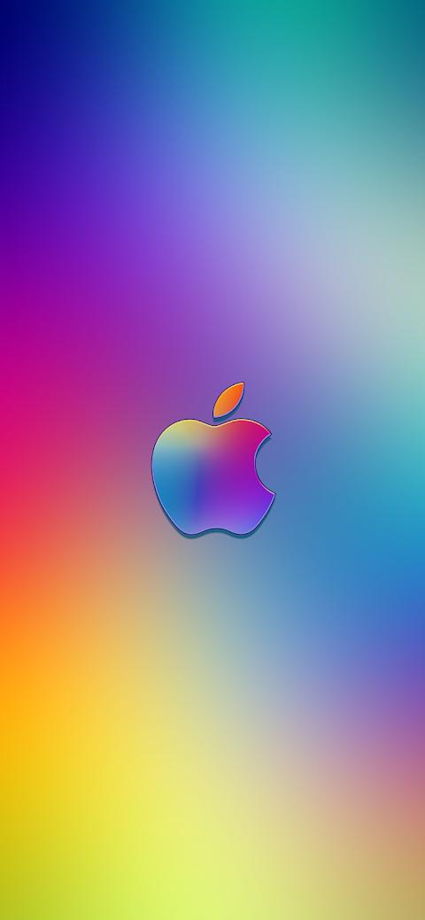 Gradient Apple Logo (iPhone X)