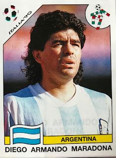 Figurina Maradona Italia 90