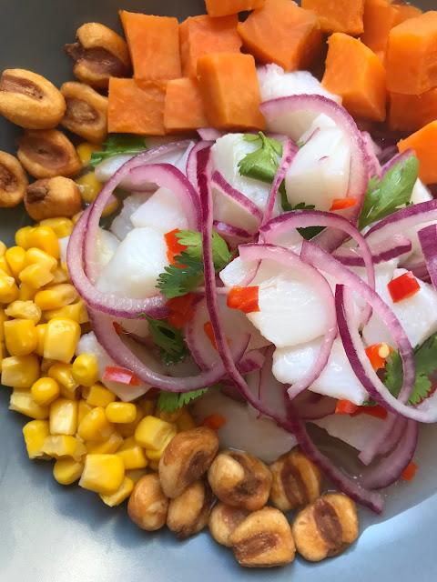 ceviche peruano receta