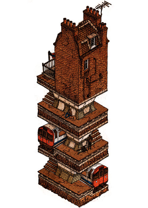 08-In-my-Basement-Evan-Wakelin-Architectural-Drawings-in-Isometric-Projection-www-designstack-co