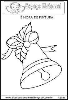 Desenho sino natal colorir