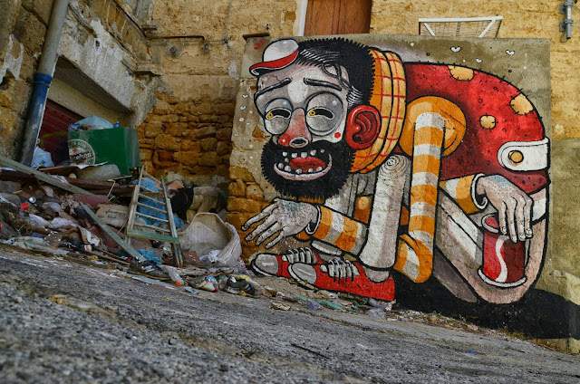 """Trash Only Salvation"" New Street Art Piece By Mr Thoms In Sicily, Italy. 3"