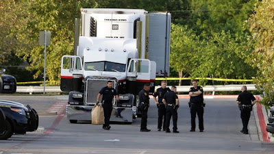 39 people were discovered in and around Bradley's tractor-trailer