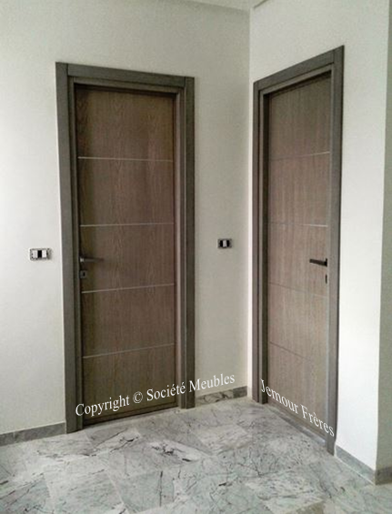 Portes d 39 int rieur pleines pour appartement en bois massif fr ne soci t meubles jemour fr res - Portes palieres appartements ...