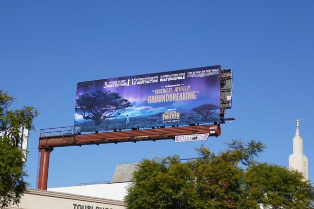 Black Panther Golden Globe billboard