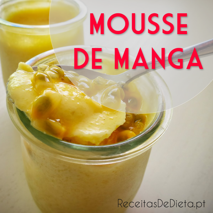 Mousse de Manga Light (só 3 ingredientes)