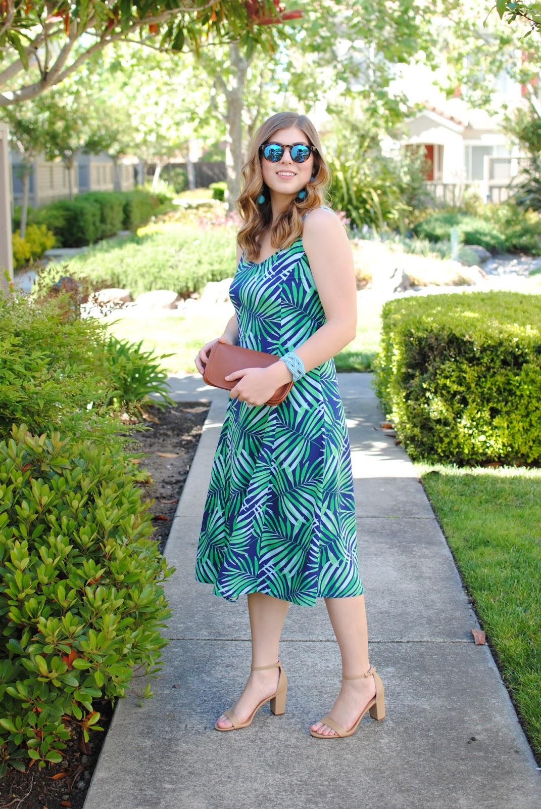 palm-print-midi-dress