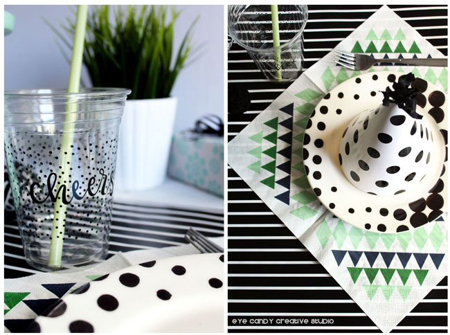 simple birthday ideas, cheers, geometric patterns, IKEA, stripes
