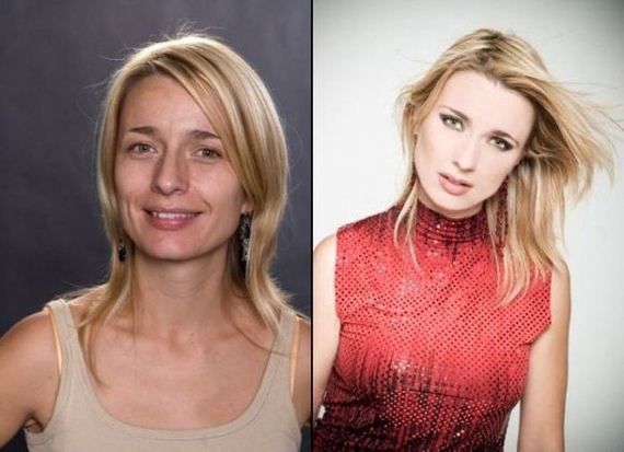 Make-up Effect - Celebrity With and Without Make Up