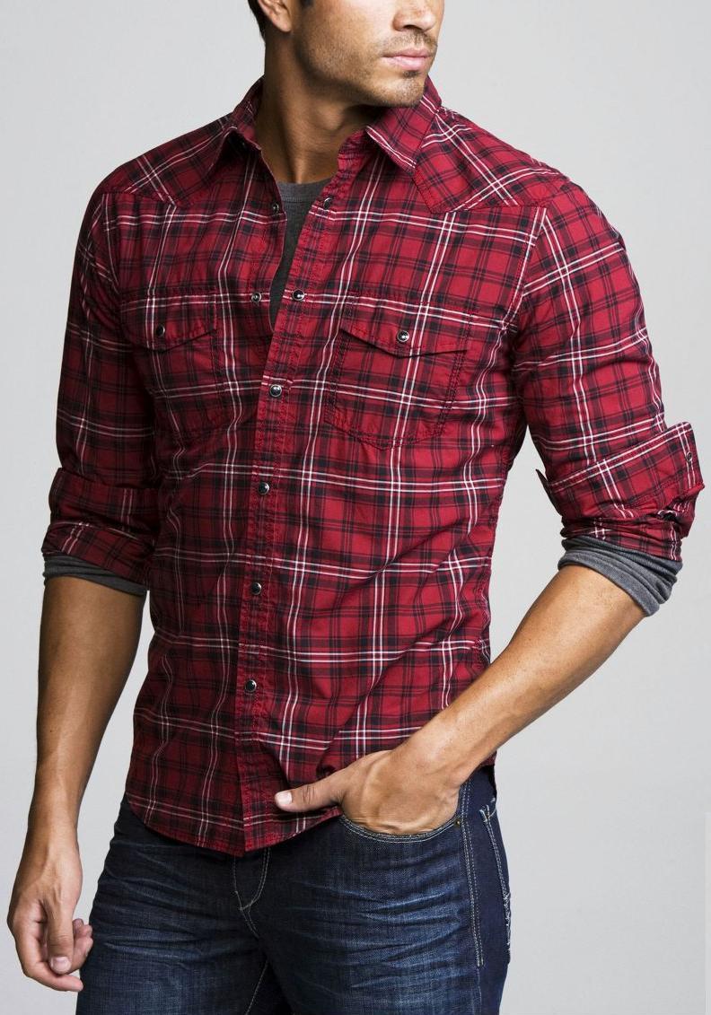 Compra para mujer rojo camisa de franela a cuadros online
