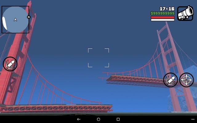 Collapsed Giant Red Bridge GTA SA Android broken san fierro las venturas bridge red big mod