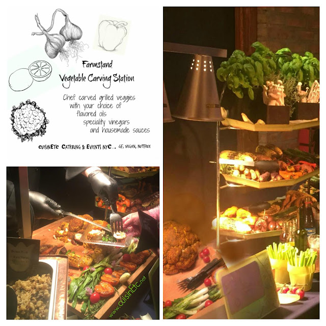 Market fresh vegetables, innovative chef carving station,  - perfect for Vegan guests, low carb diets and plant based eaters.