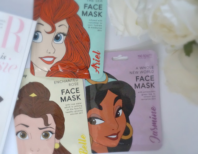 disney princess facemasks by mad beauty