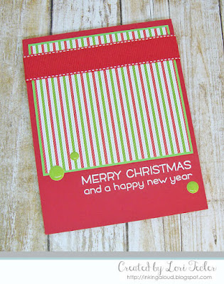 Merry Christmas card-designed by Lori Tecler/Inking Aloud-stamps from Lawn Fawn