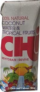 Chi coconut water with tropical fruits