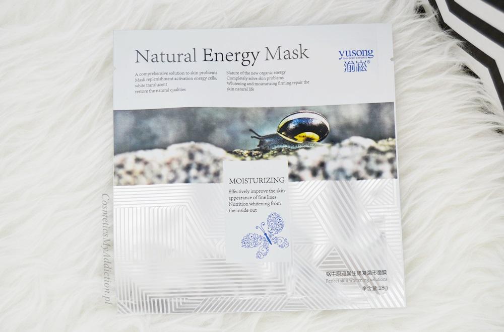 SUNEW | Jedwabna maska w płacie - upiększająca, ze śluzem ślimaka