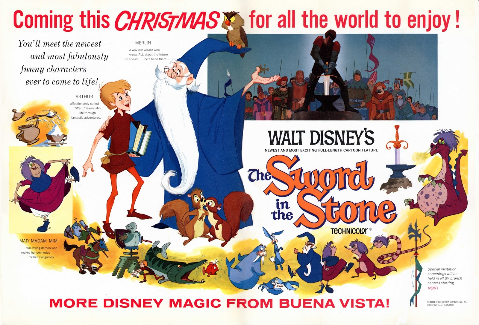 Image result for sword in the stone 1963