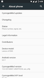 Custom Rom Cyanogenmod 13 for Lenovo A7000