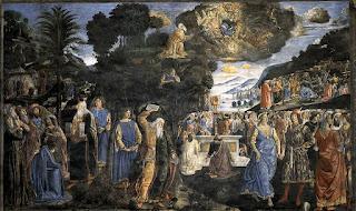 Cosimo Rosselli Moises tabuas leis - As paredes da Capela Sistina